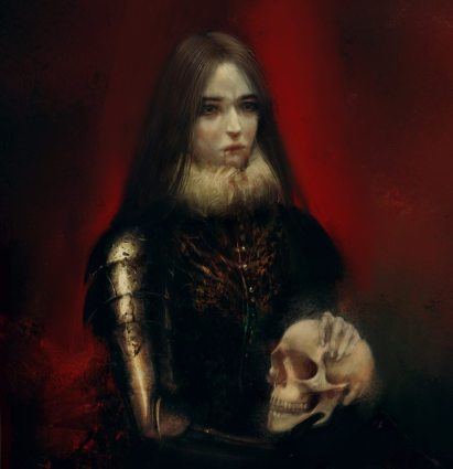 Fantasy-Portrait-of-a-Vampire-Woman-by-Bella-Bergolts